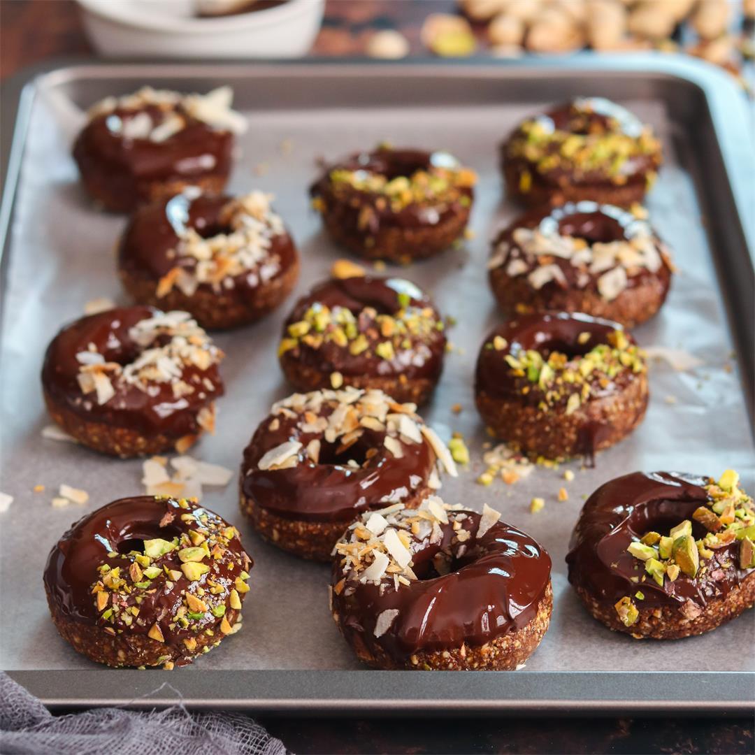 Raw Turkish delight doughnuts