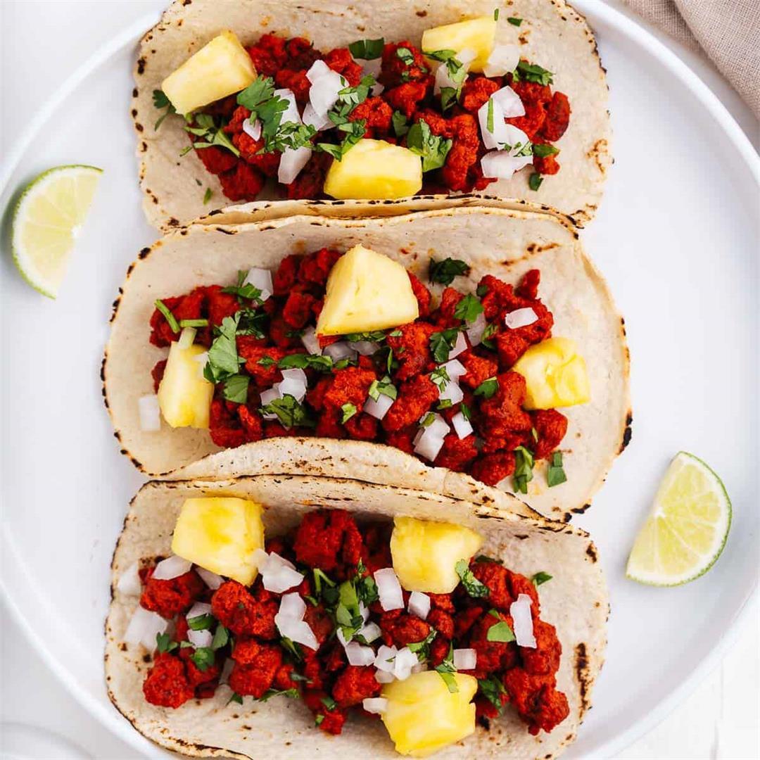 Tacos Al Pastor Recipe (Vegan & Gluten-Free)