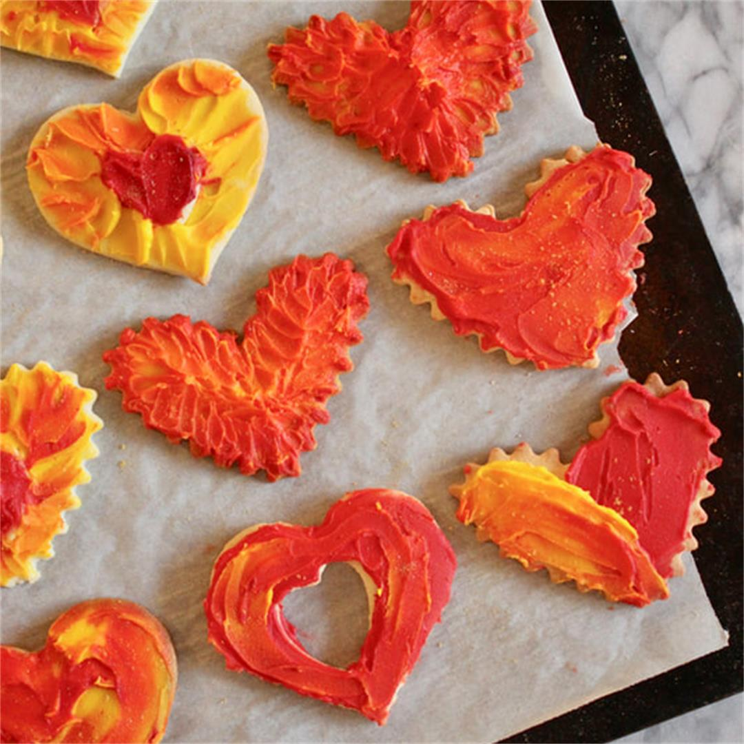 Valentine's Day Heart Cut-Out Sugar Cookies