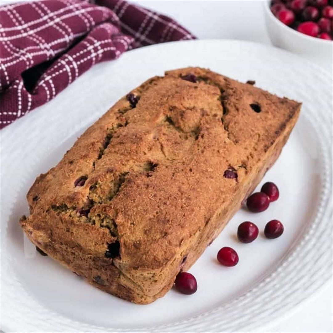 Keto Gluten Free Orange Cranberry Bread Recipe