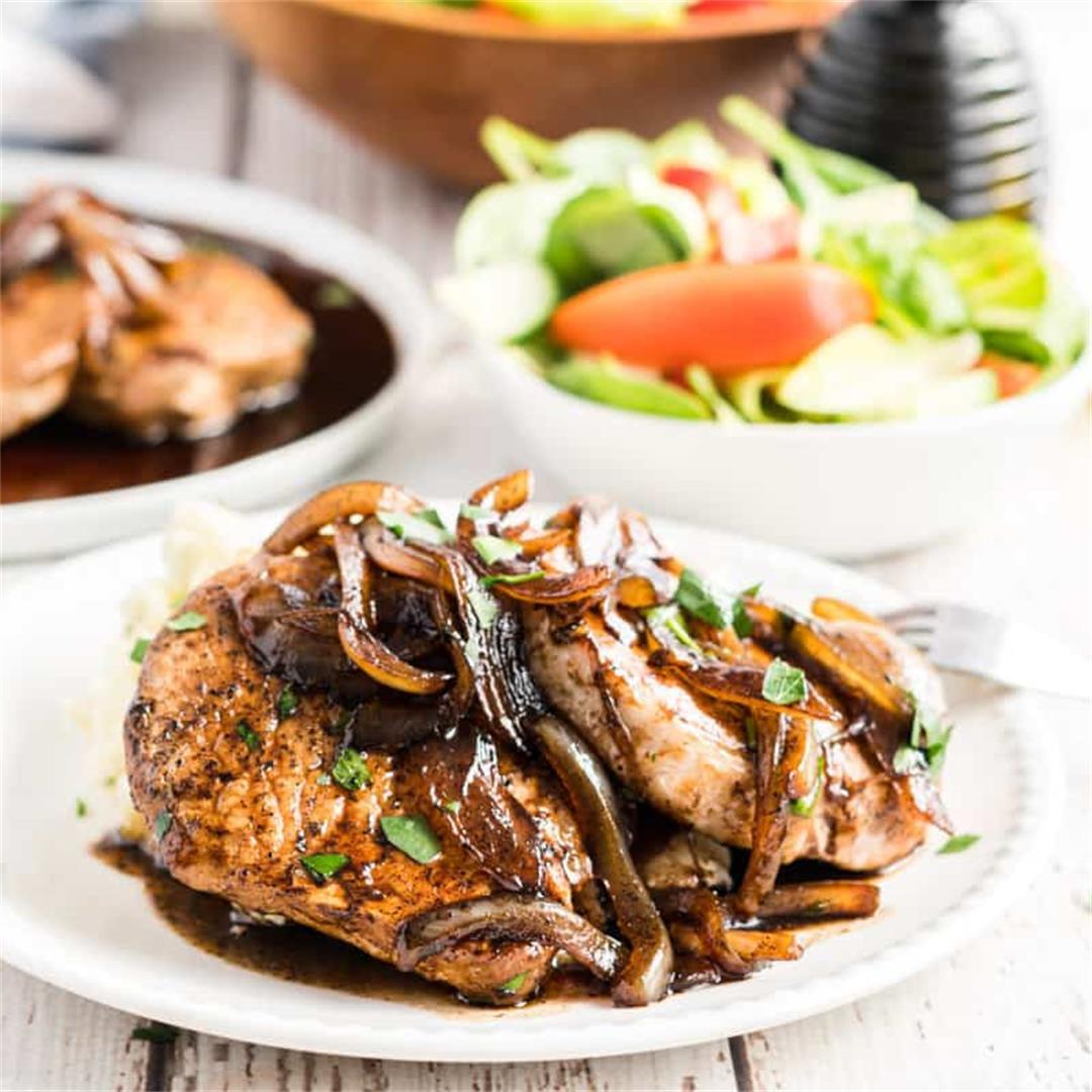 Balsamic Glazed Pork Chops (under 30 minutes)