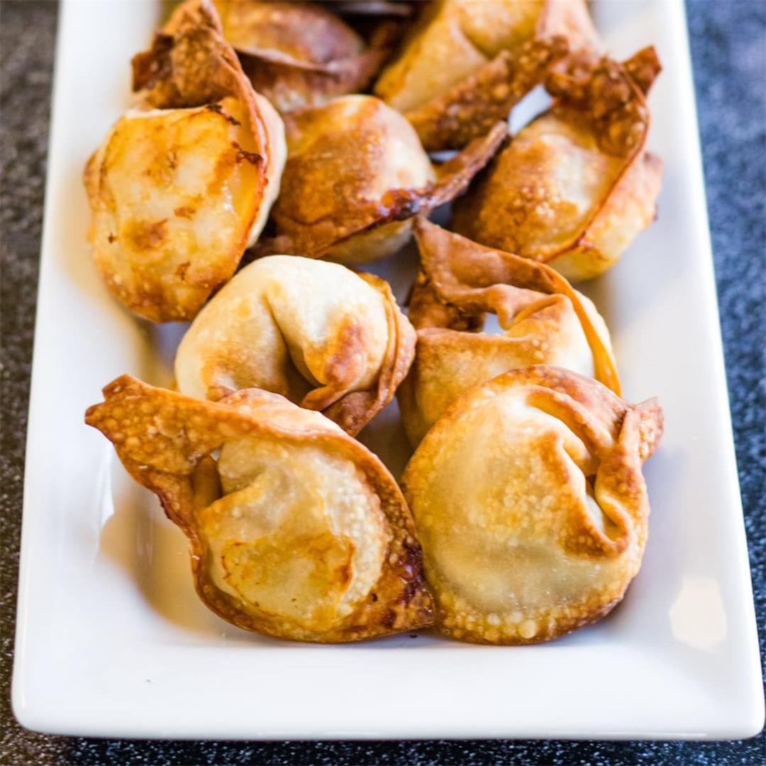 Crispy Crunchy Air Fryer Wontons