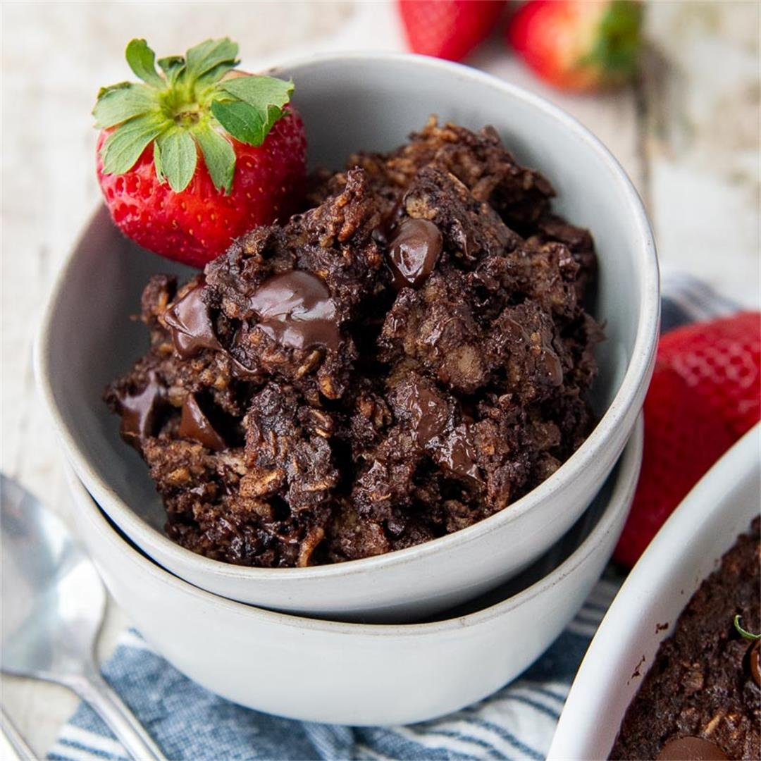 Fudgy Baked Chocolate Oatmeal