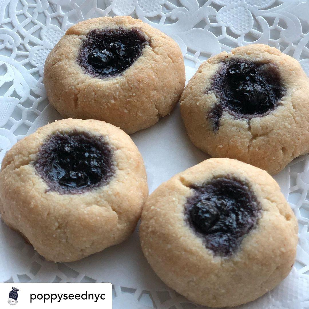 Cookies using with father's Hill blueberry jam