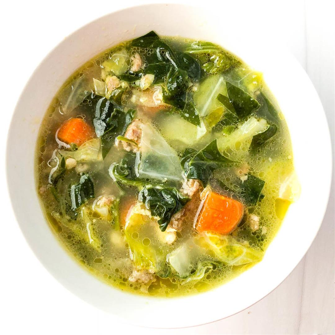 Keto Vegetable Sausage Soup Recipe with Hearty Low Carb Vegetab