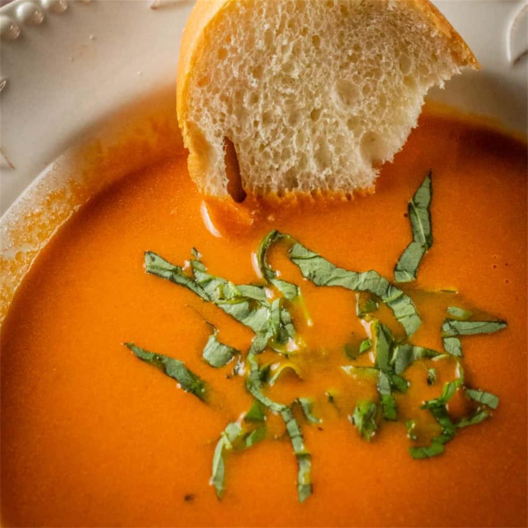 Creamy Tomato Soup with Mascarpone