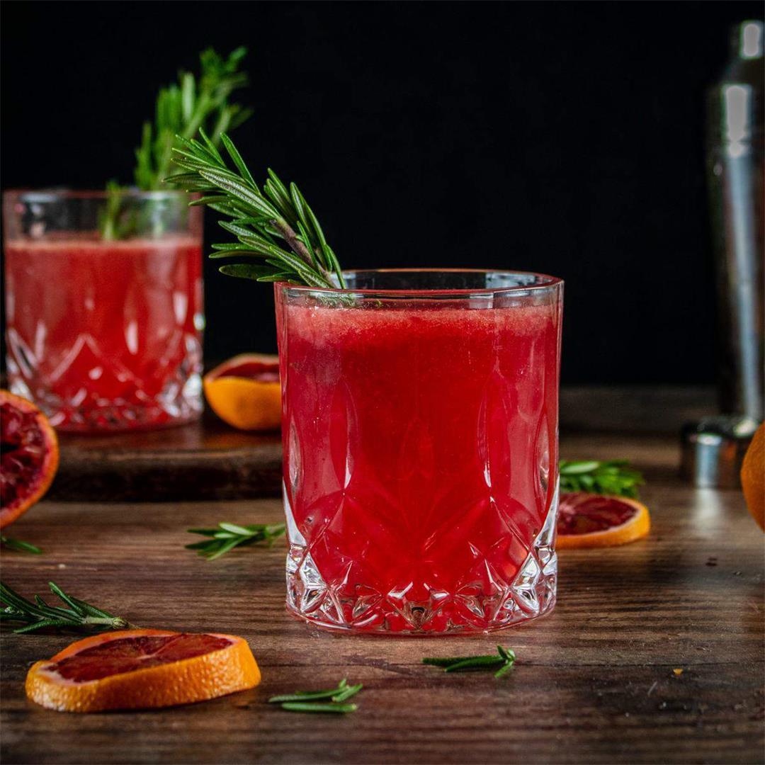 Whiskey Blood Orange Smash Recipe