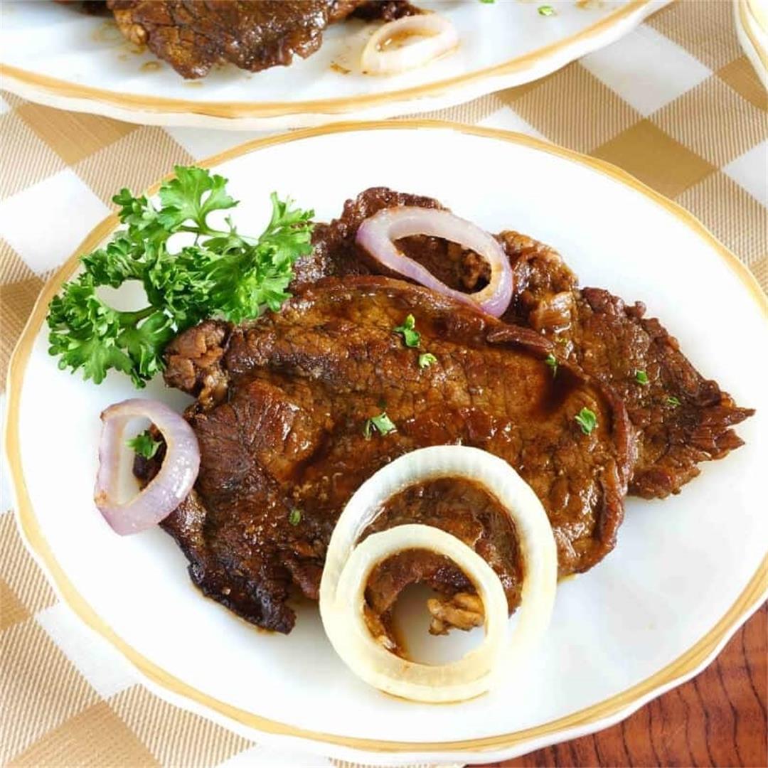 Filipino Bistek Recipe (Slow Cooker Beef Steak)
