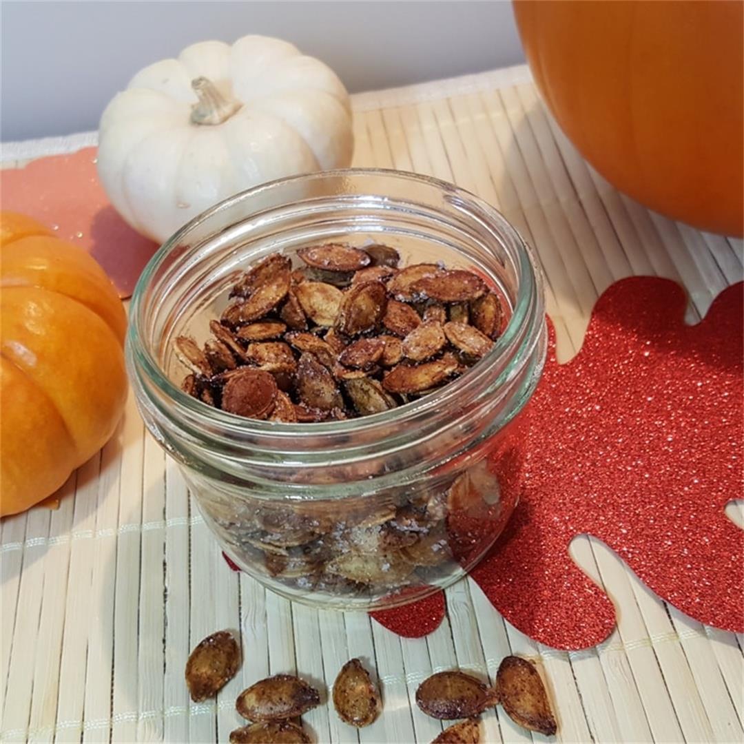 Toasted Cinnamon Sugar Pumpkin Seeds (Air Fryer, Pressure Cooke