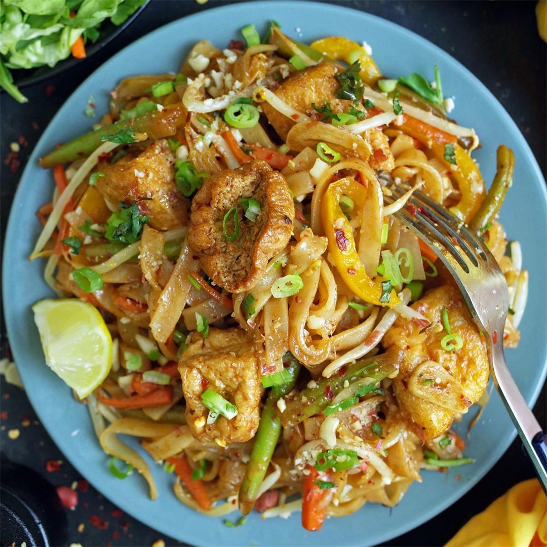 Authentic Vegan Vegetable & Tofu Pad Thai