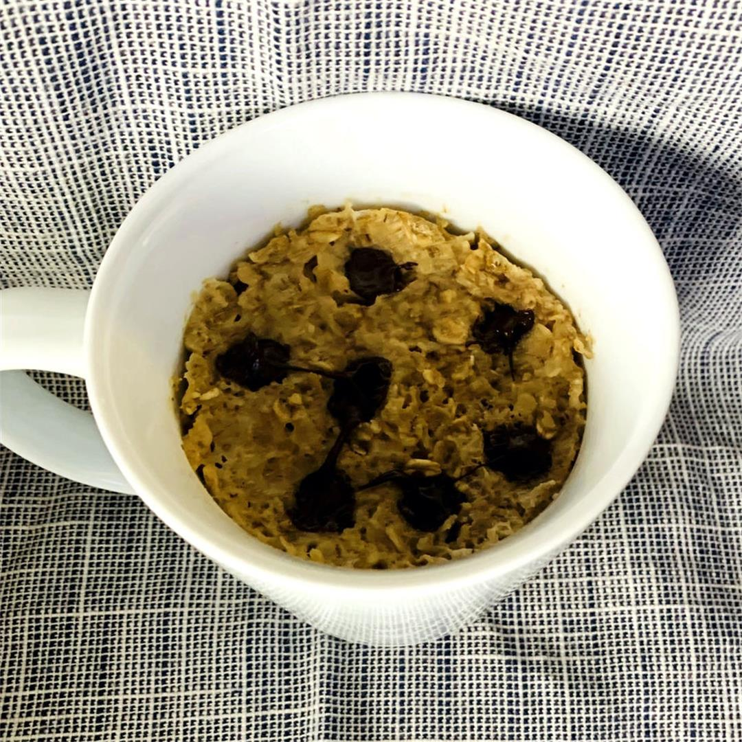 Single Serve Chocolate Chip Cookie Baked Oatmeal