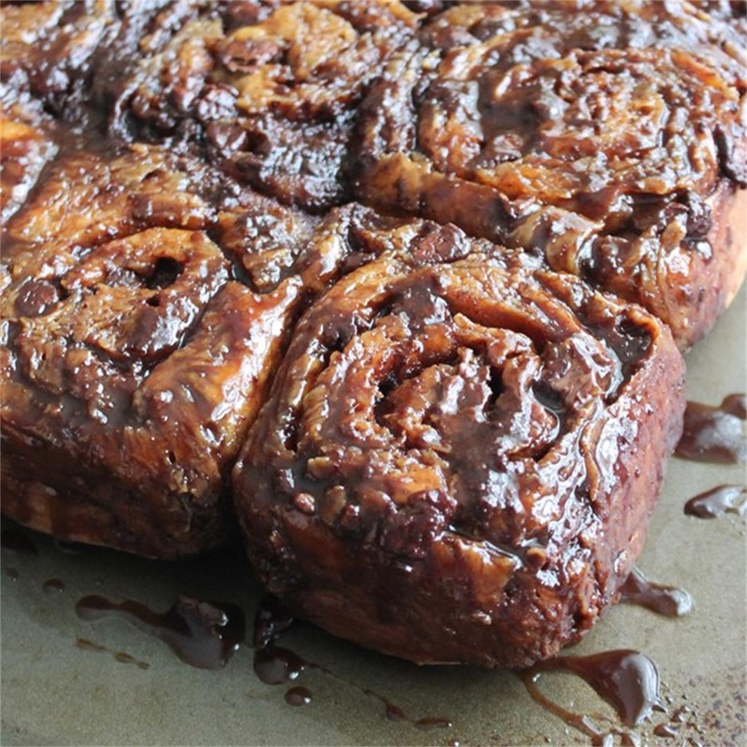 Triple-Chocolate Sticky Buns – My Recipe Reviews