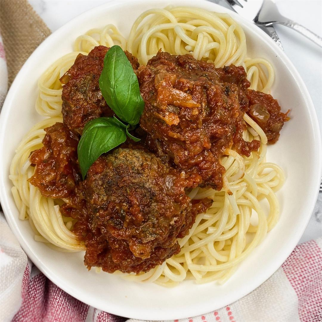 The Best Spaghetti and Meatball Marinara