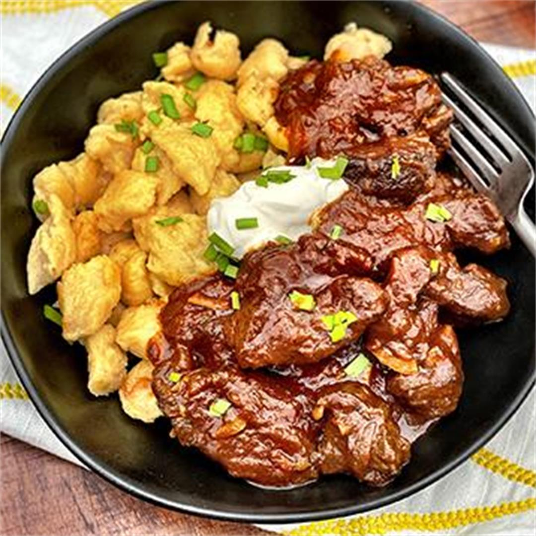 Austrian Goulash with Wagyu Beef and Dumplings