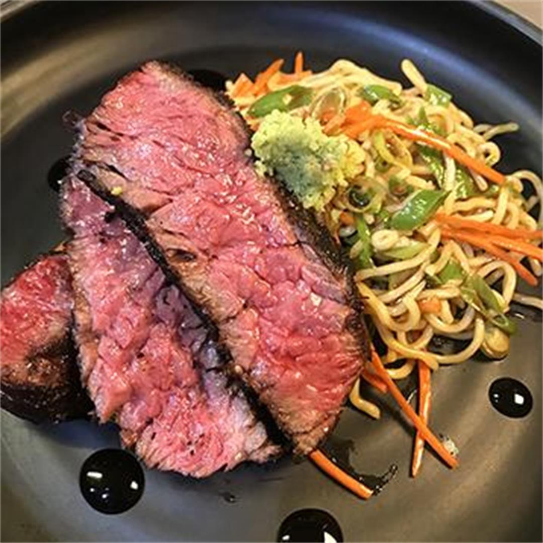 Shichimi Togarashi Wagyu Bavette Sesame Ramen Noodle Salad