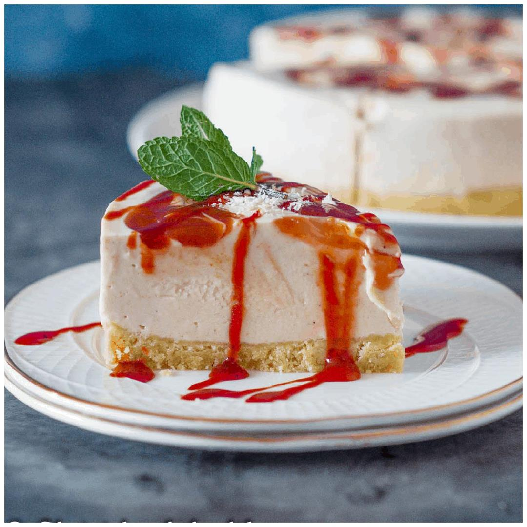 Guava Cheesecake (Vegan)