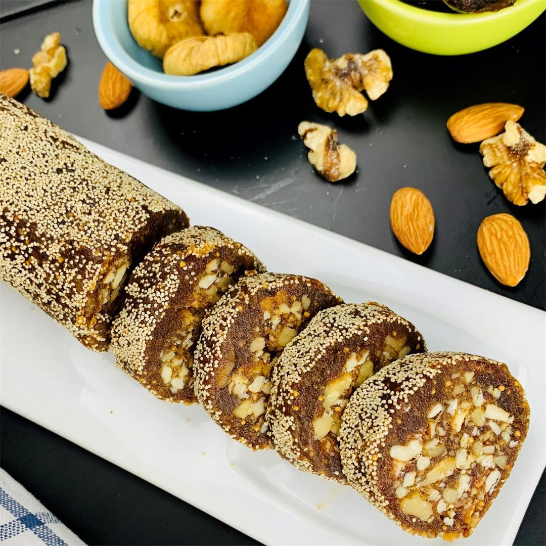 A healthy quick energy bite for sweet cravings with dates