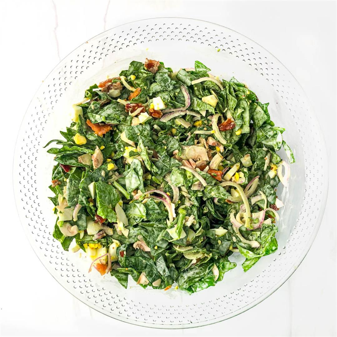 Keto Spinach Salad Recipe