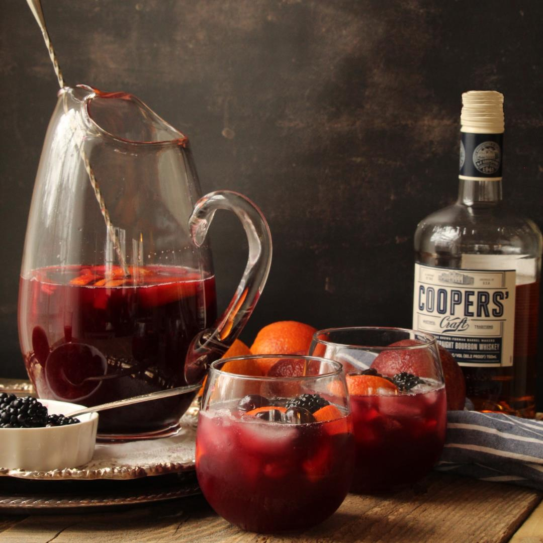 Blood Orange Bourbon Sangria
