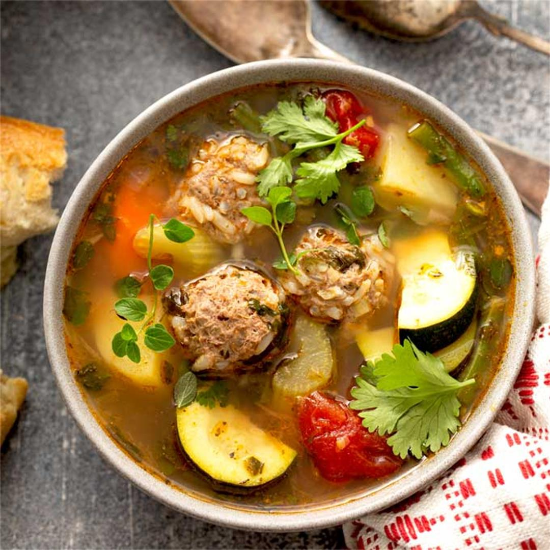 The Best Mexican Albondigas Soup