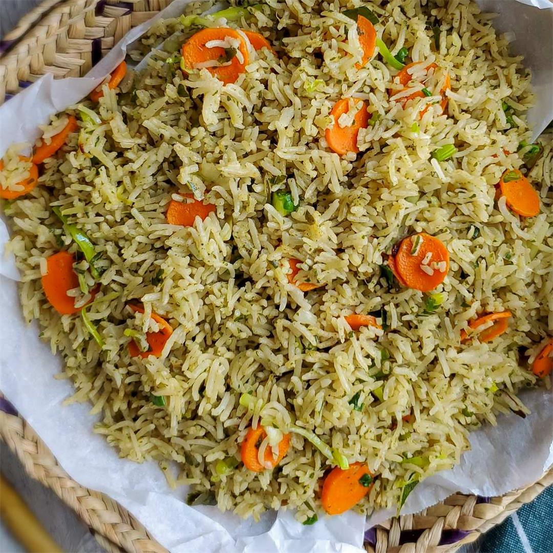 Curry Leaves rice with vegetables