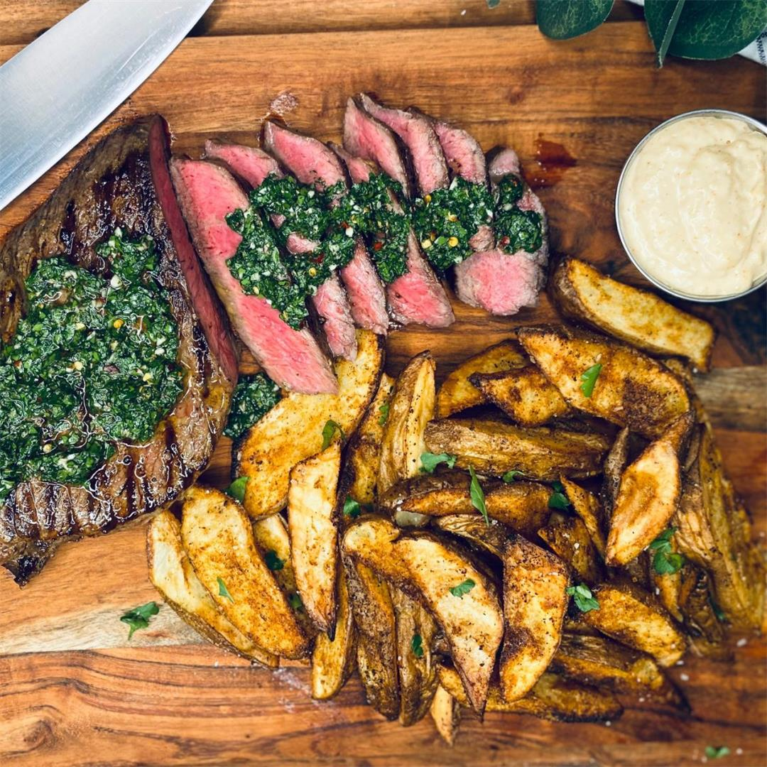 Chimichurri Steak and Garlic Frites