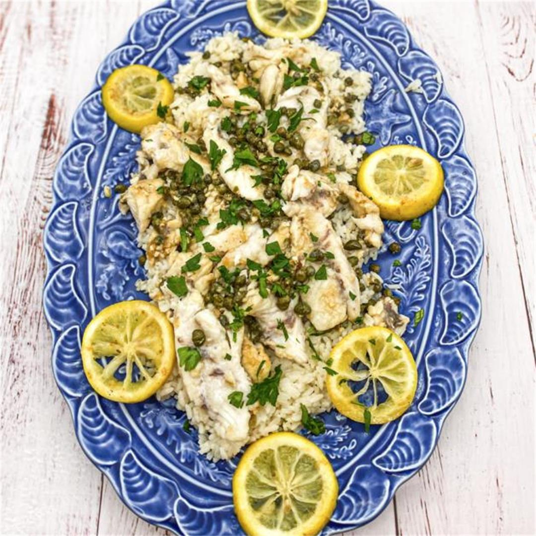 Mangrove Snapper with Butter, Lemon and Capers