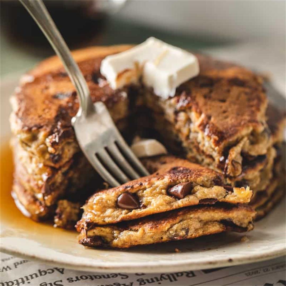 Peanut Butter Banana Pancakes Healthy