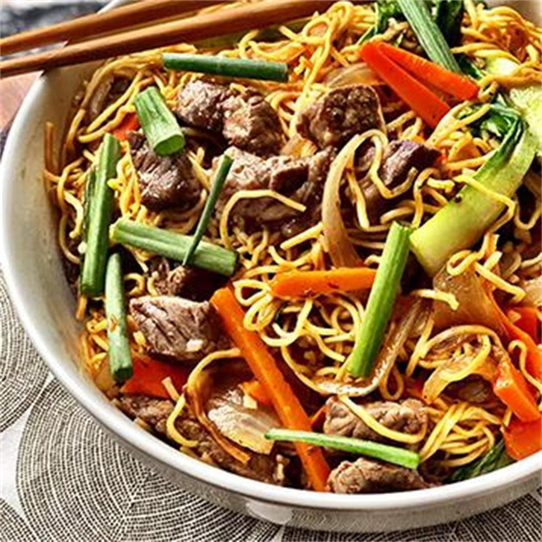 Pan-Fried Noodles with Fullblood Wagyu Beef