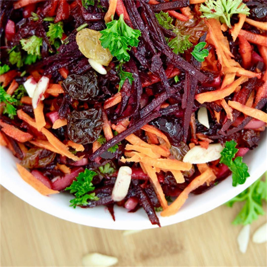 Beet and Carrot Raw Slaw Salad (Vegan/Gluten-Free) — Just Beet