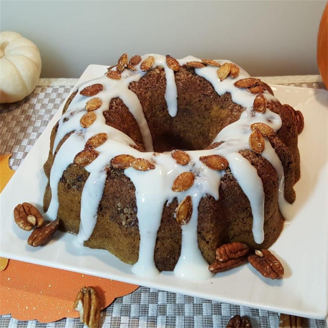 Pressure Cooker Bourbon Glazed Buttermilk Pumpkin Bread