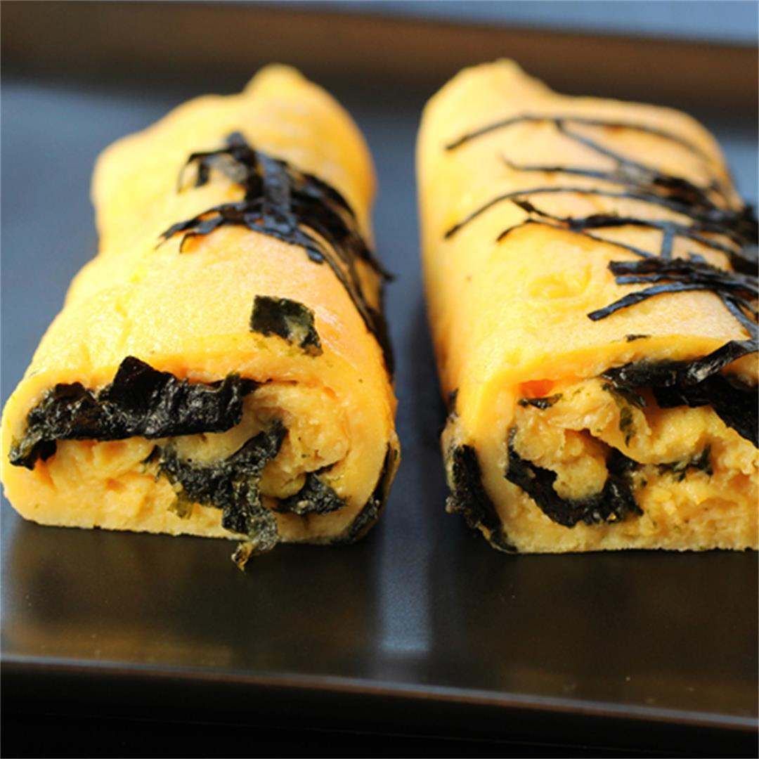 Jidori egg omelet with nori