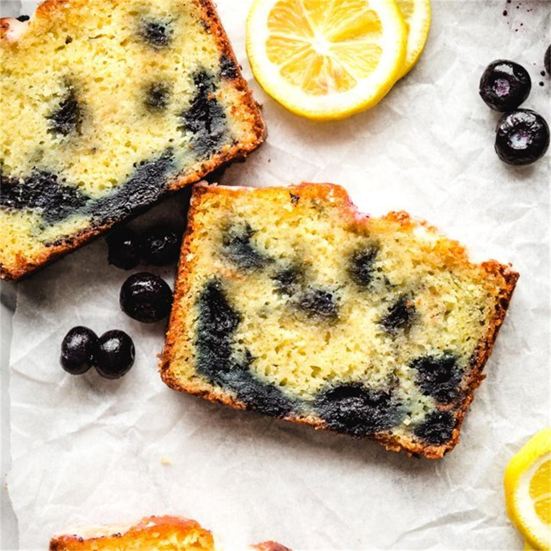 Lemon Blueberry Yogurt Loaf Cake