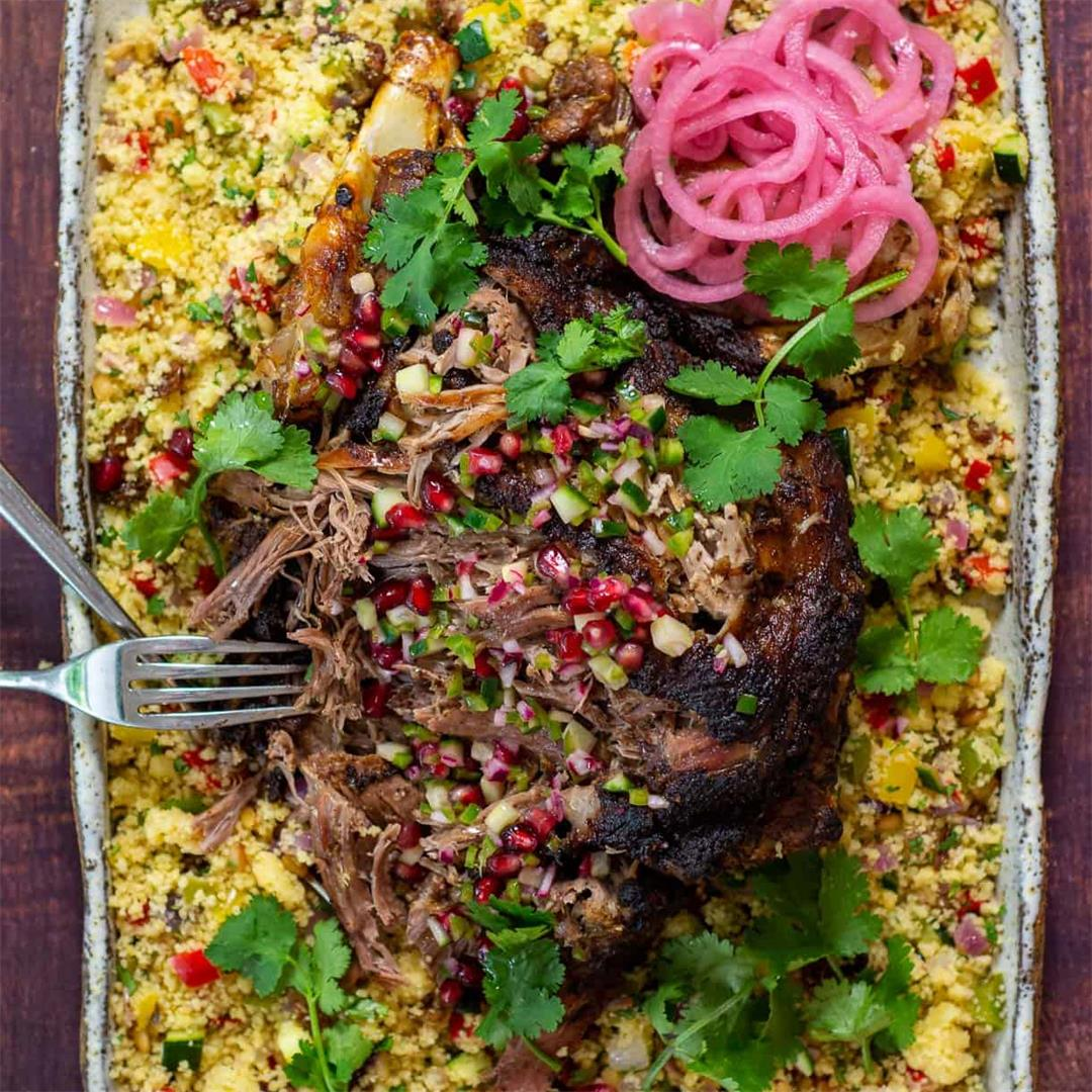 Slow Cooked Moroccan Lamb