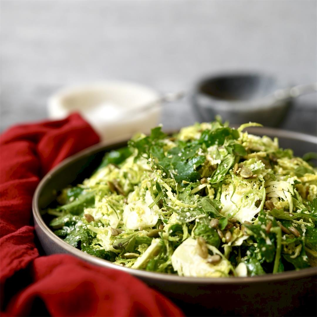 Kale Winter Salad With Mustard Vinegrette