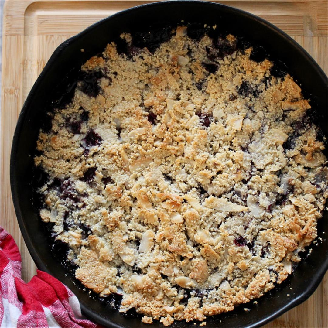 Low Carb Blueberry Crisp