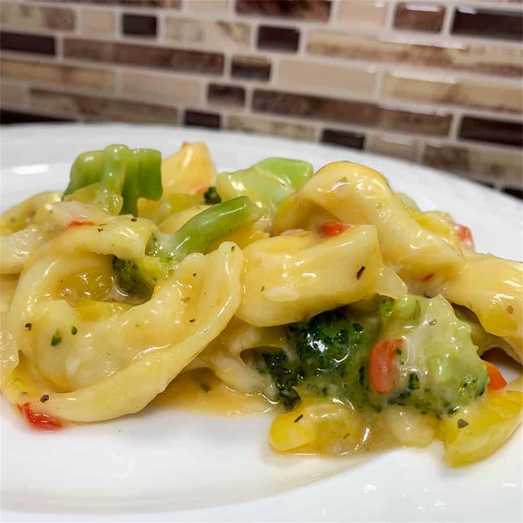 Broccoli Cheese Tortellini Bake