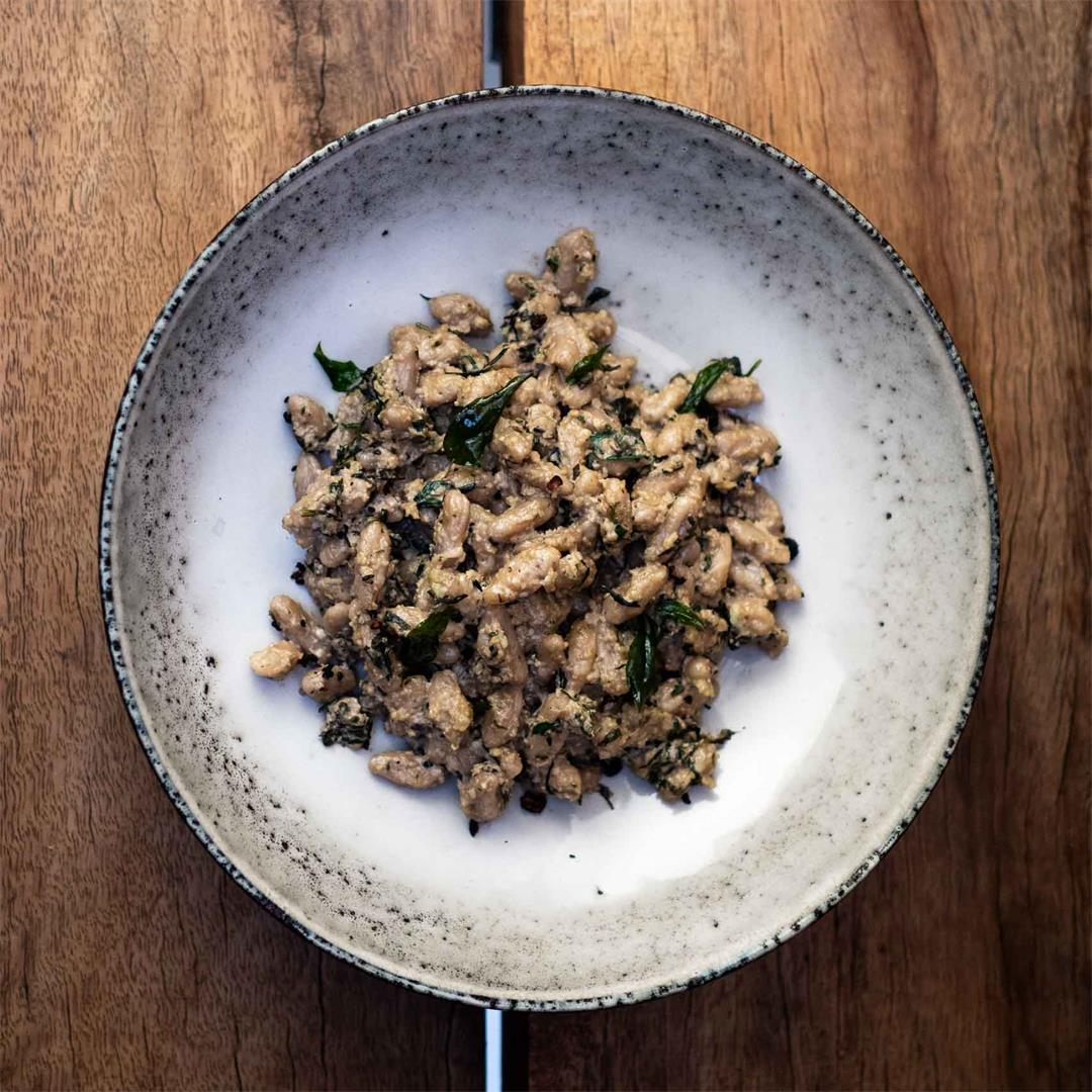 Wattleseed and Peppermint Gum Malloreddus with Pesto