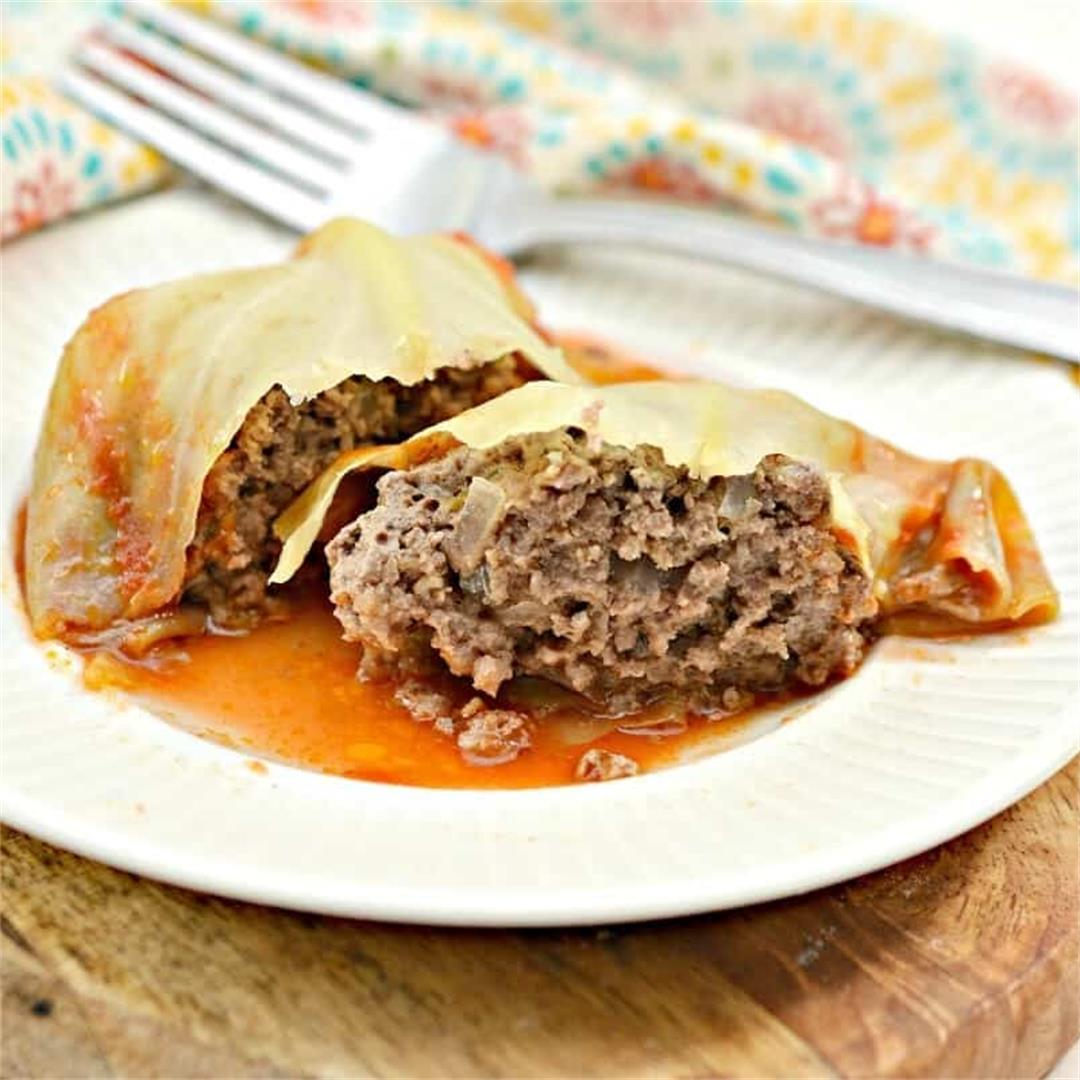 Stuffed Keto Cabbage Rolls Recipe
