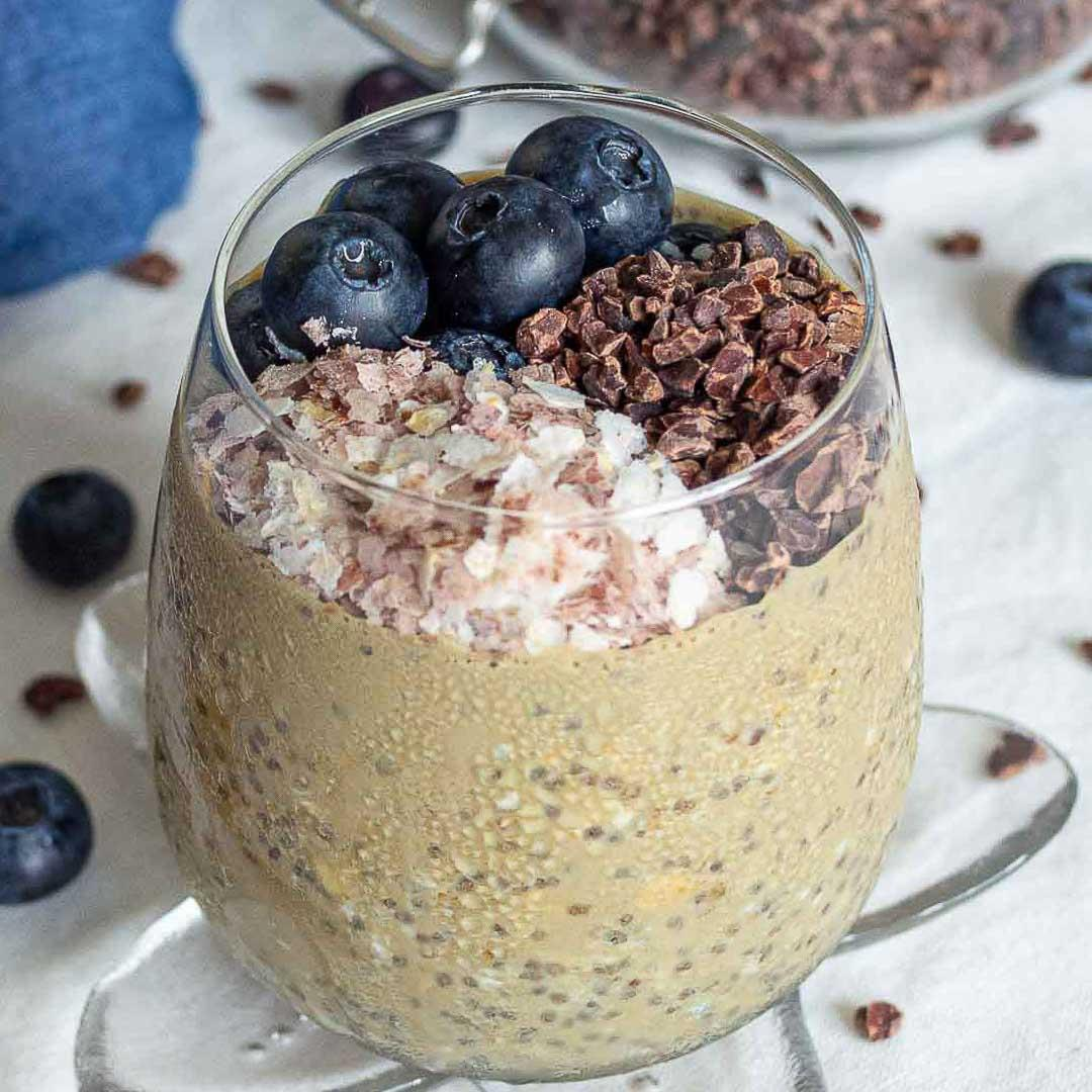 Overnight Oats with Cacao Nibs Recipe