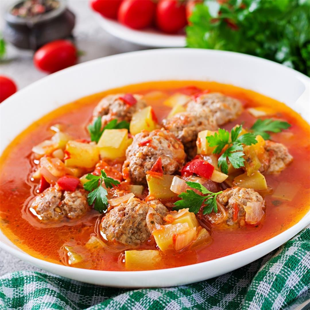 Albondigas Mexican Meatball Soup With Mint And Ground Bison