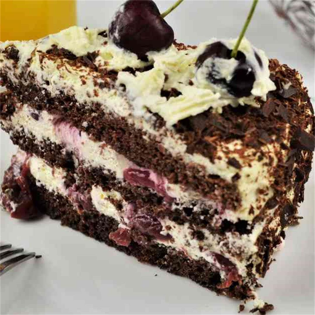 Easy Black Forest Cake Recipe-Timea's Kitchen