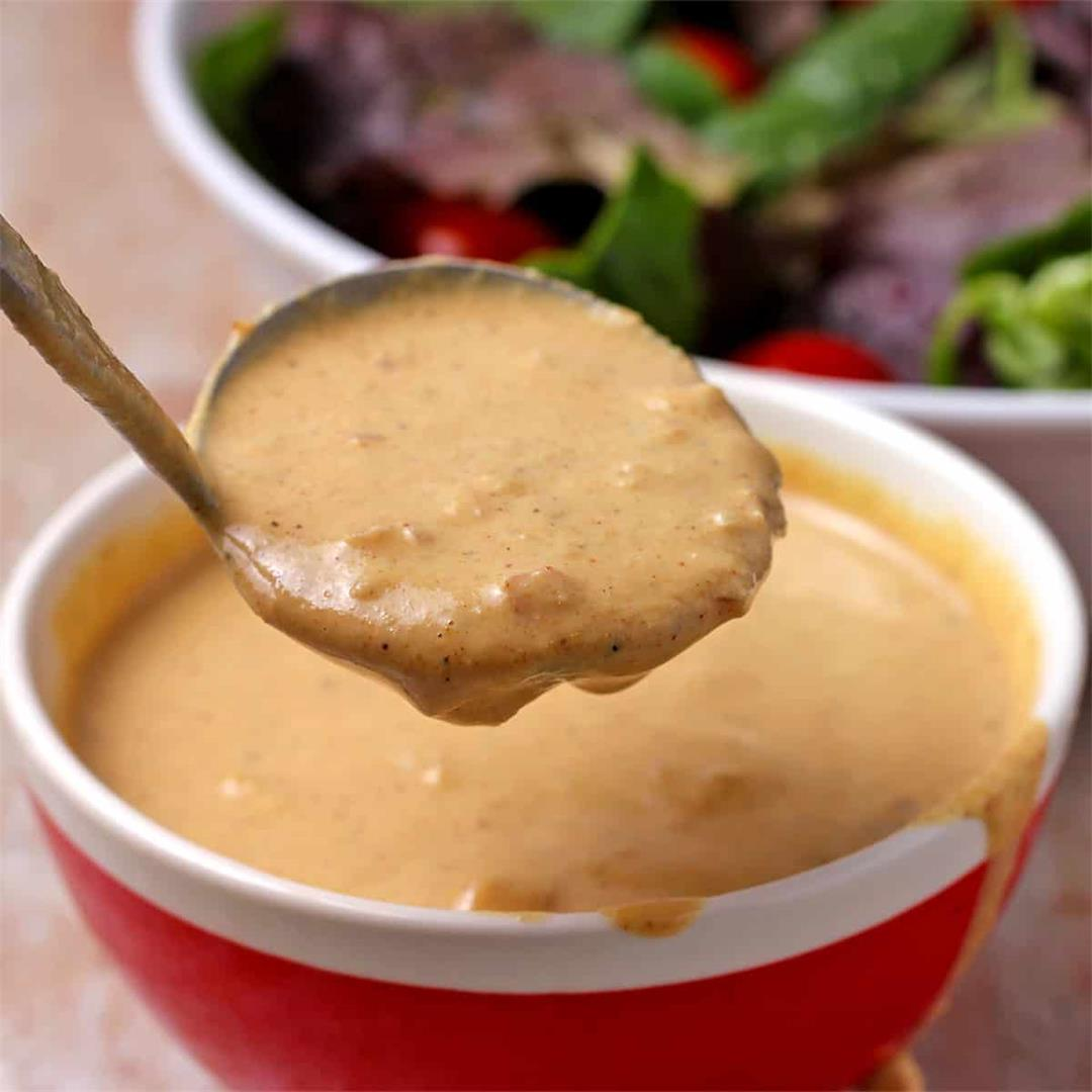 delectable mustard tahini dressing (vegan)