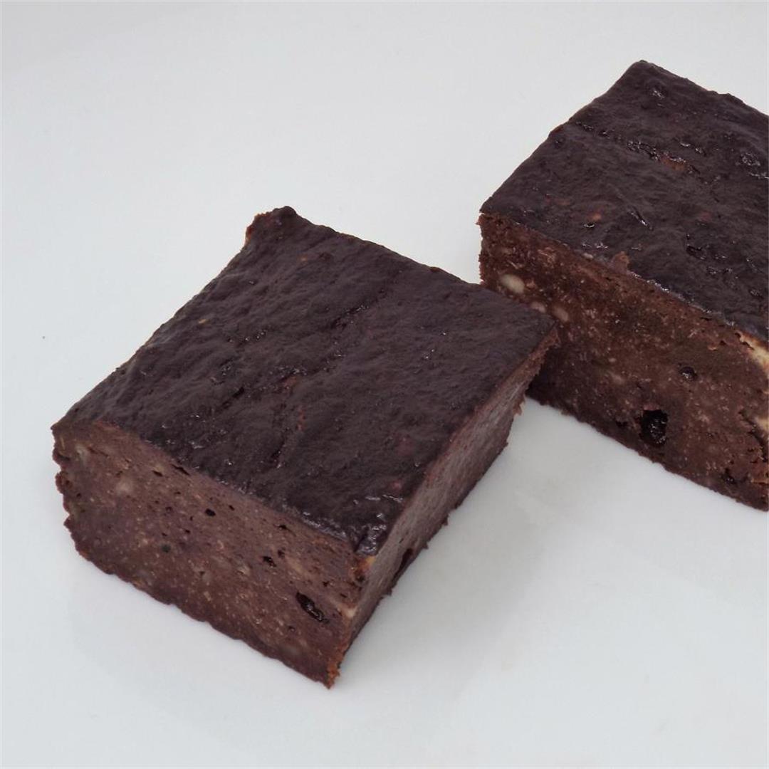 Healthy Chocolate Banana Brownies