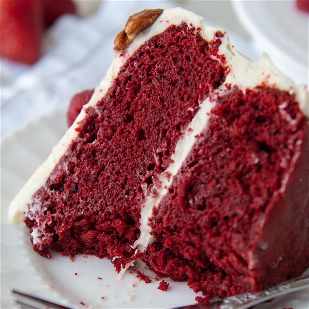 Moist Gluten Free Red Velvet Cake