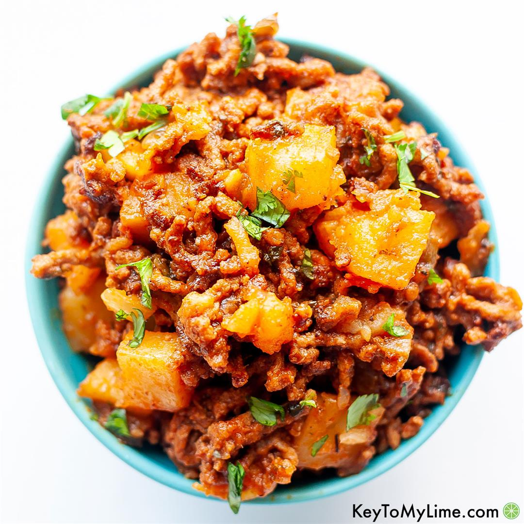 Traditional Mexican Picadillo Con Papas Recipe (Carne Molida)