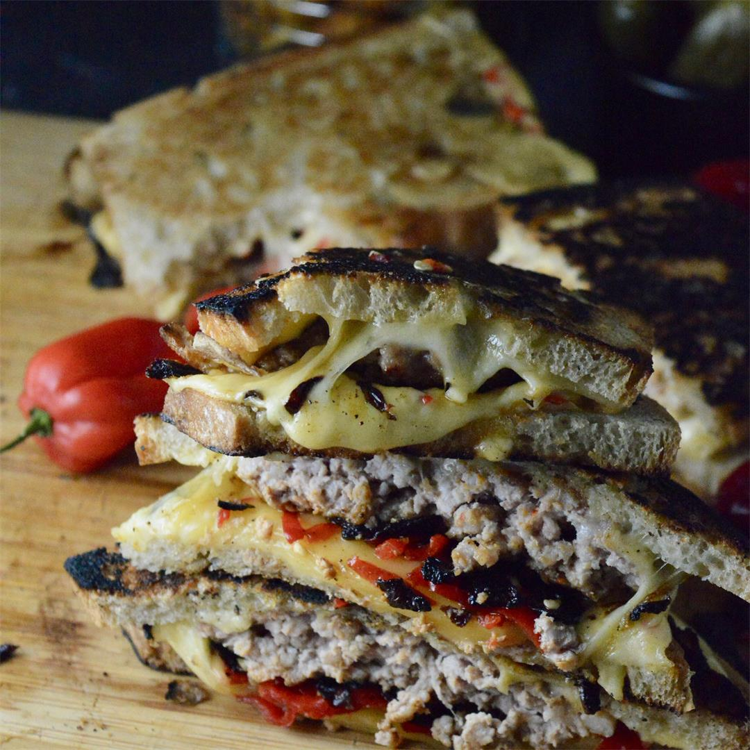 Cheesy Patty Melt with Chillies