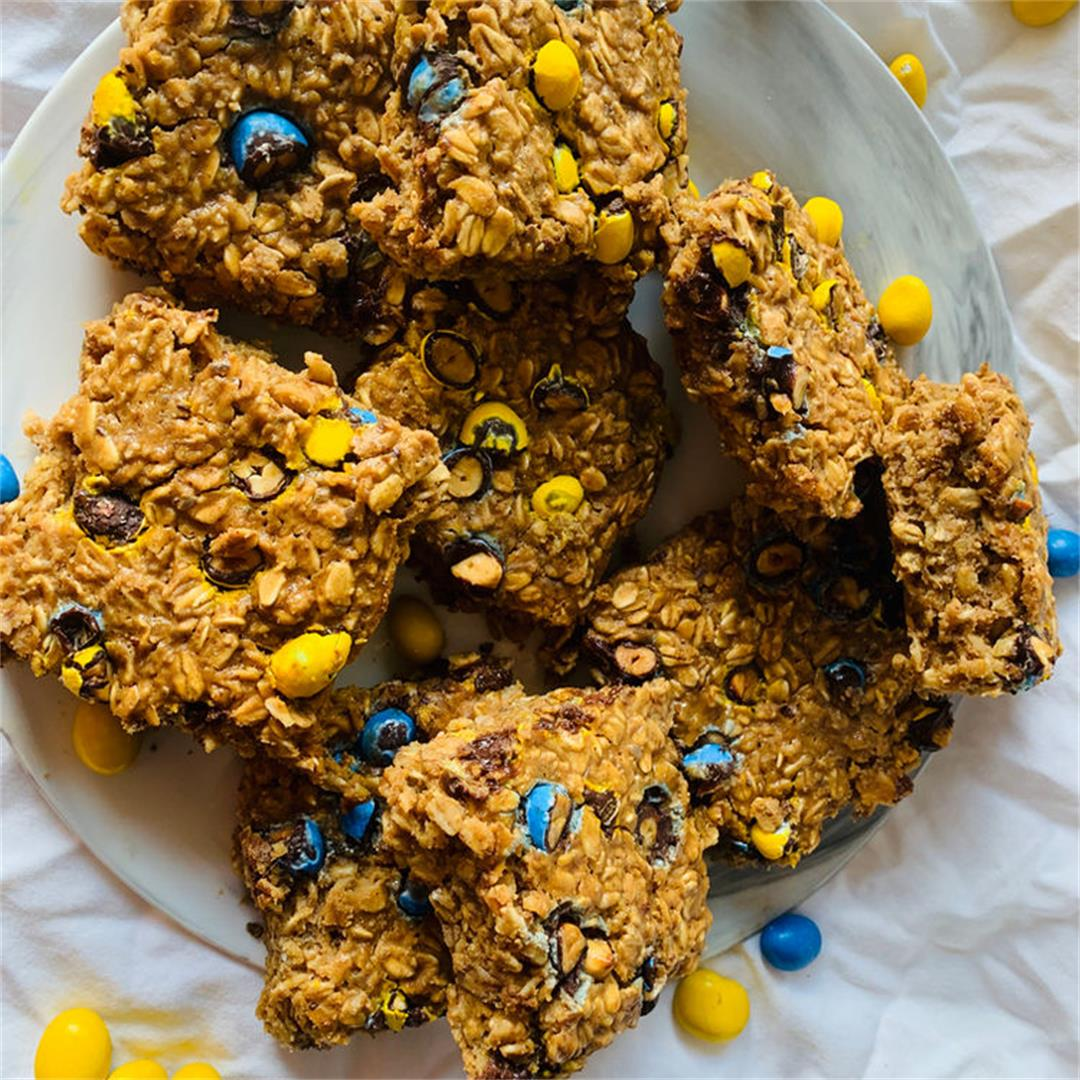 Monster Cookie Baked Oatmeal