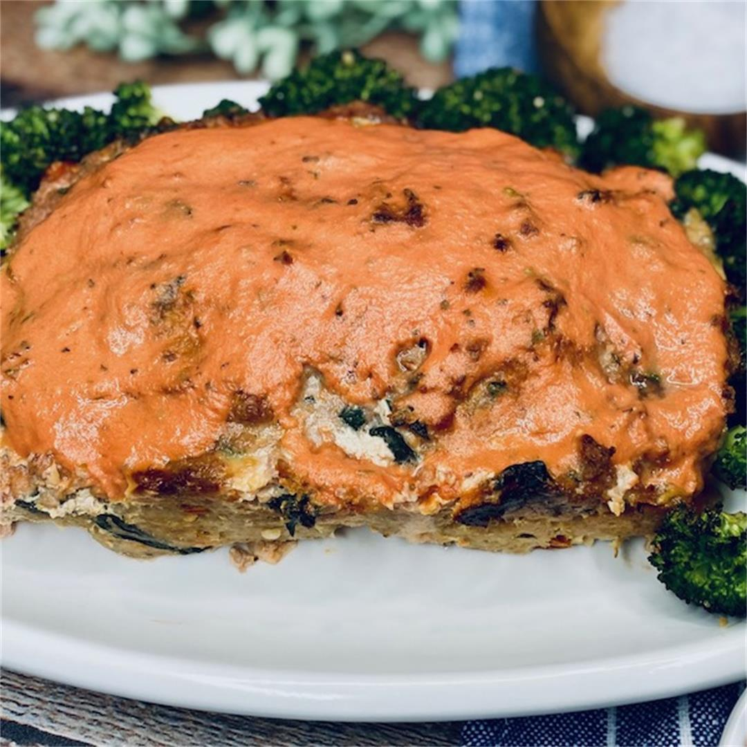 Sun-dried Tomato and Goat Cheese Meatloaf