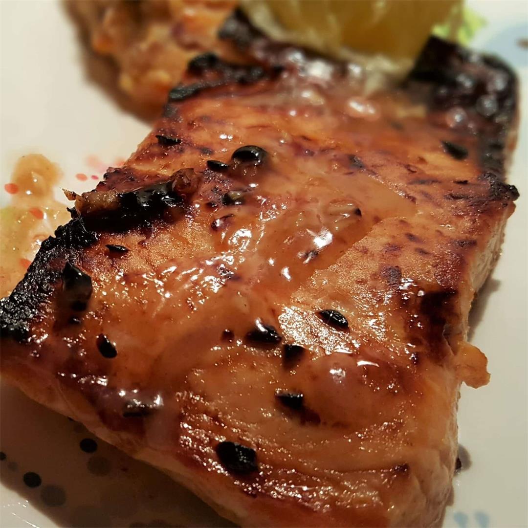 Brown Butter Honey Garlic Salmon